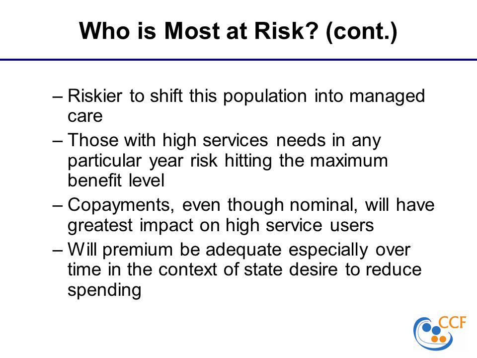 Who is Most at Risk.
