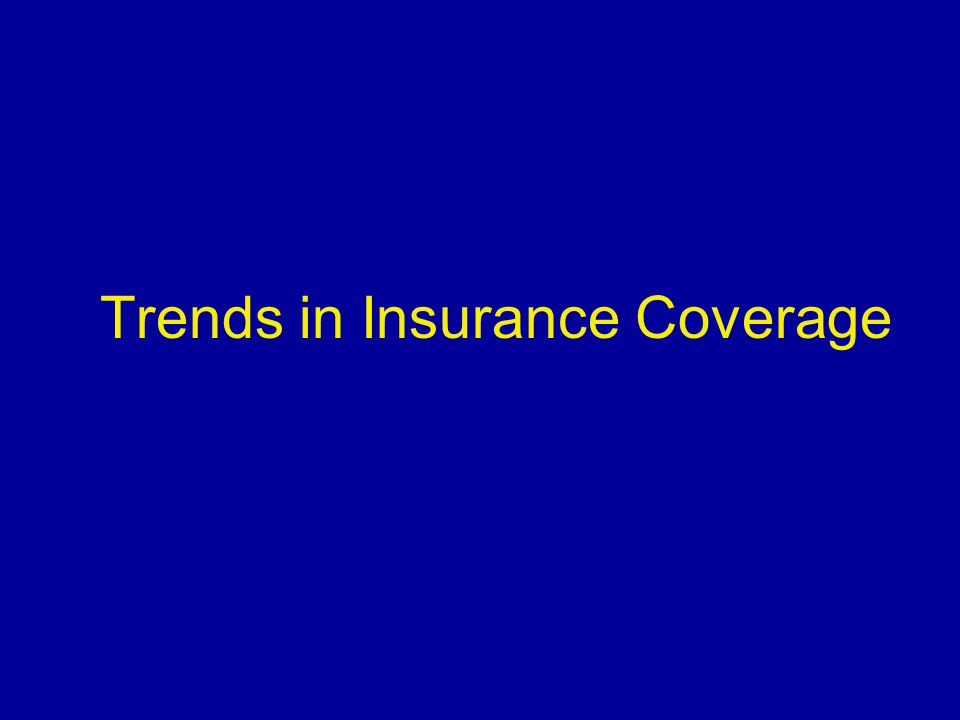 Sources of Health Insurance Coverage (Age 0 – 64, December 1998) Rural Non Adjacent (RNA) residents are far less likely to have private coverage, and more likely to have Medicaid or other public coverage.