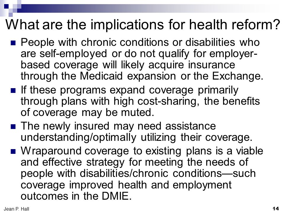 What are the implications for health reform.