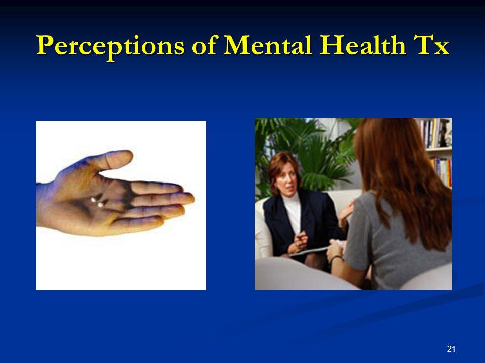Perceptions of Mental Health Tx 21