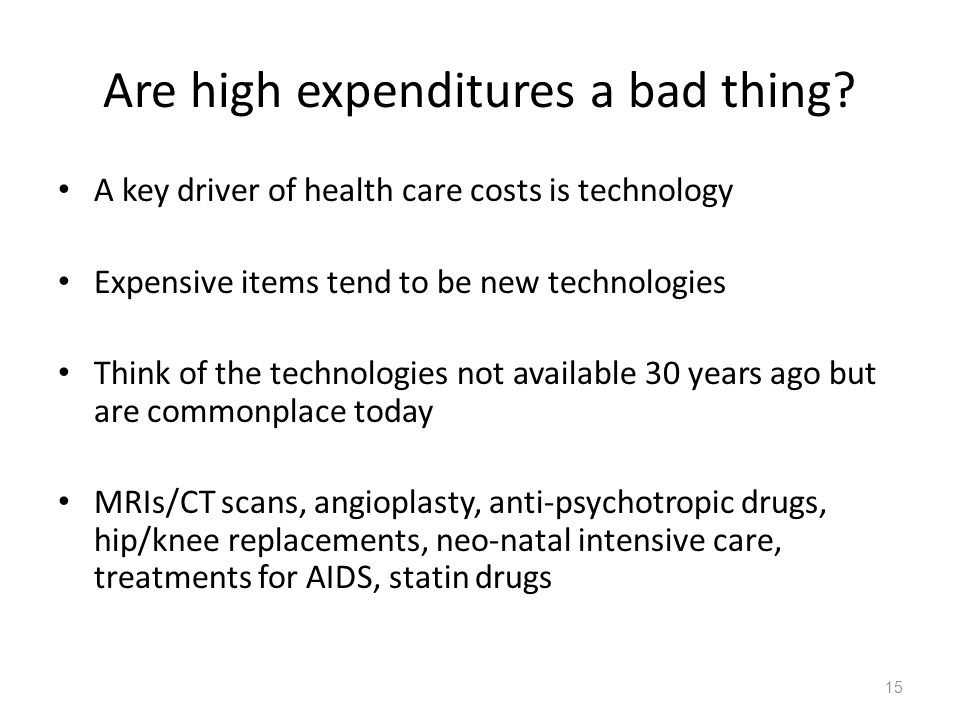 Are high expenditures a bad thing.