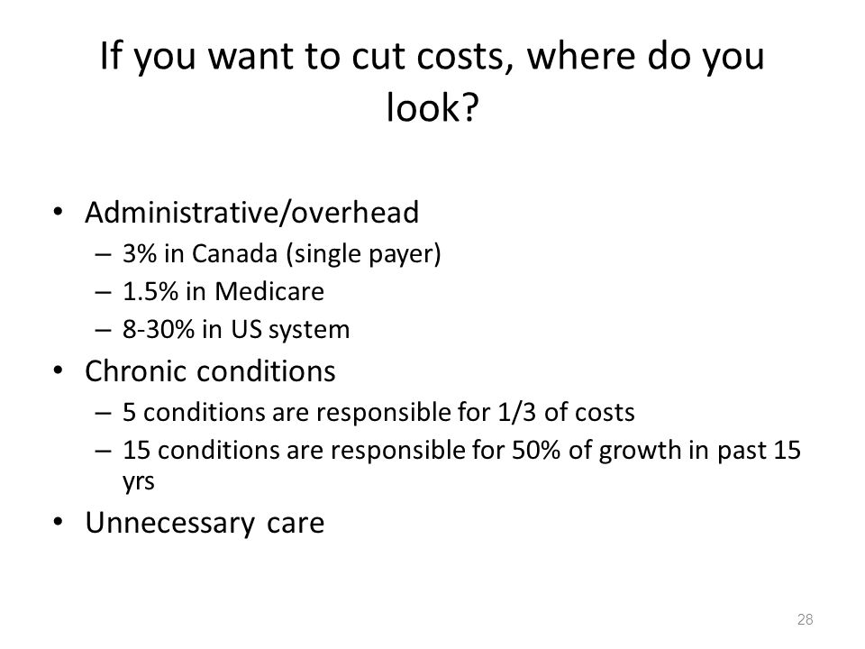 If you want to cut costs, where do you look.