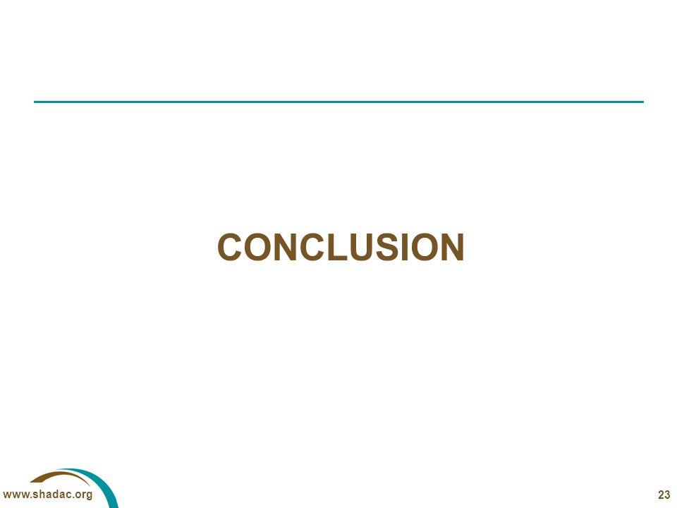 www.shadac.org CONCLUSION 23