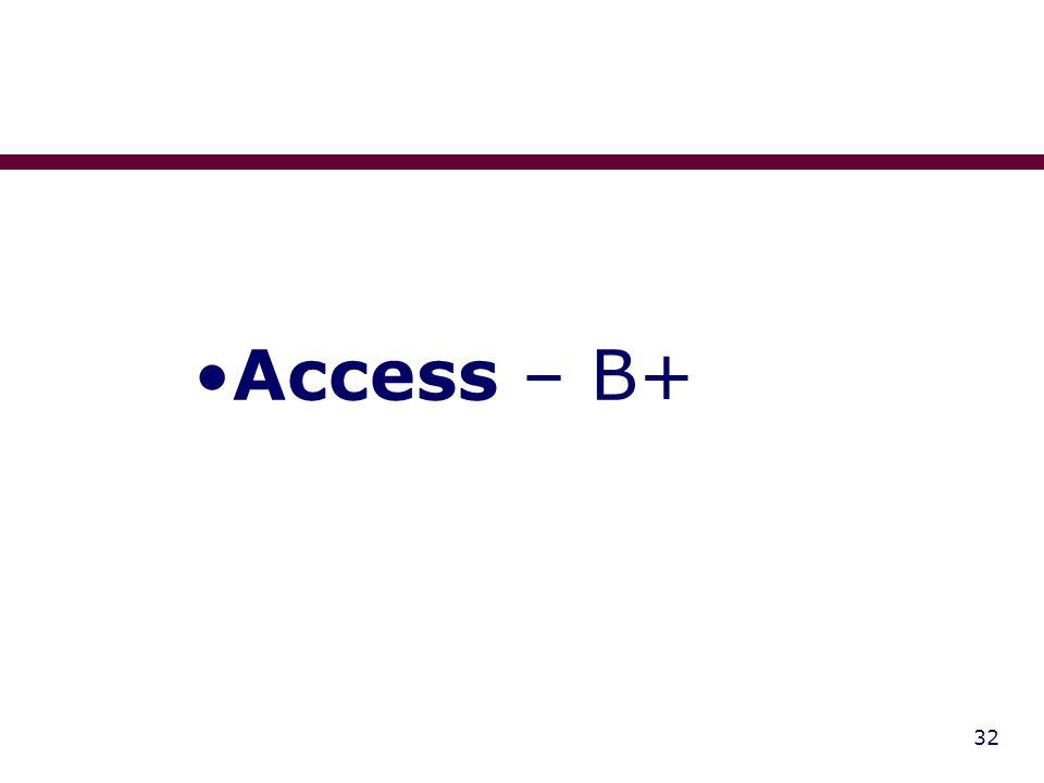 32 Access – B+