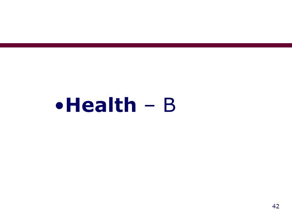 42 Health – B