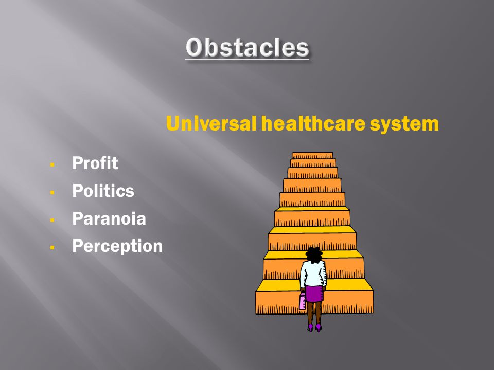  Profit  Politics  Paranoia  Perception Universal healthcare system