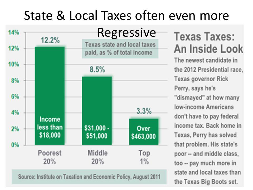 State & Local Taxes often even more Regressive