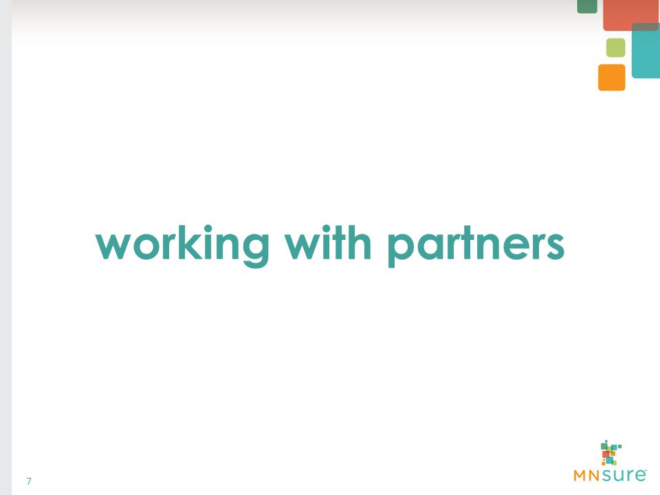 working with partners 7