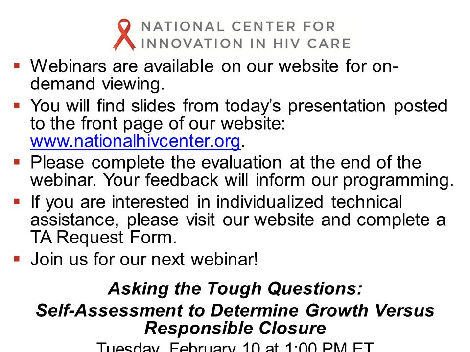  Webinars are available on our website for on- demand viewing.