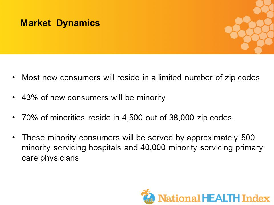 Most new consumers will reside in a limited number of zip codes 43% of new consumers will be minority 70% of minorities reside in 4,500 out of 38,000 zip codes.