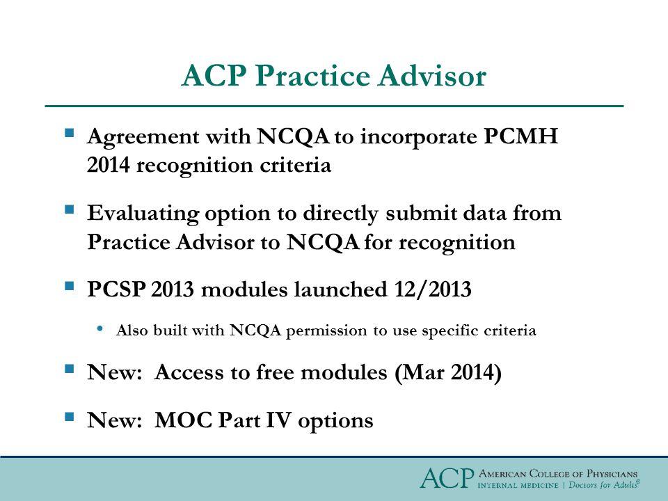 ACP Practice Advisor