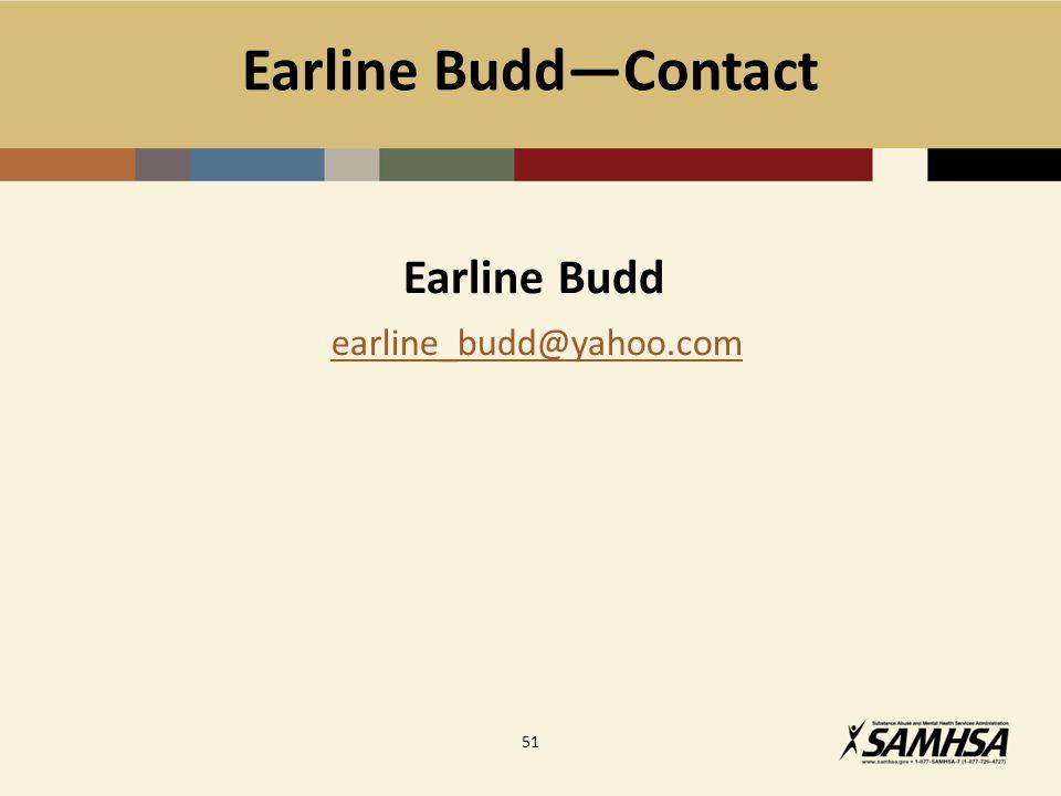 Earline Budd―Contact Earline Budd earline_budd@yahoo.com 51