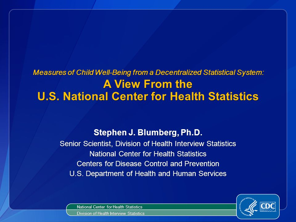 Measures of Child Well-Being from a Decentralized Statistical System: A View From the U.S.