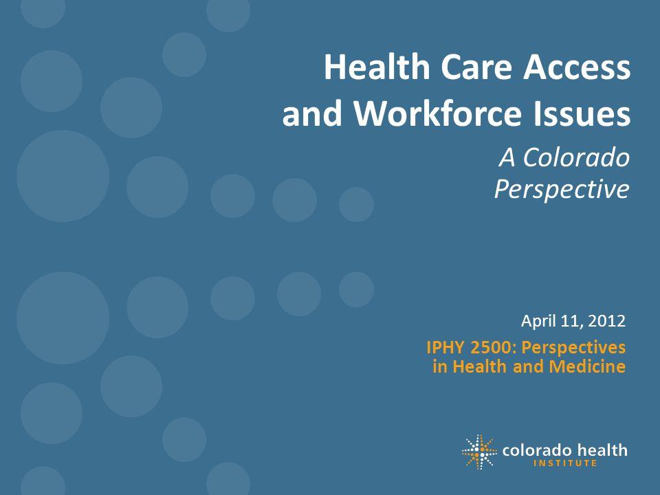 Colorado's safety net landscape Colorado's Safety Net Landscape
