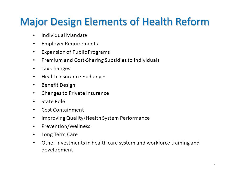 Health Reform Goals: Slide from August 7, 2009, 6:00 am Lost in the Shuffle: The Overarching Goals of Health Reform By UWE E.