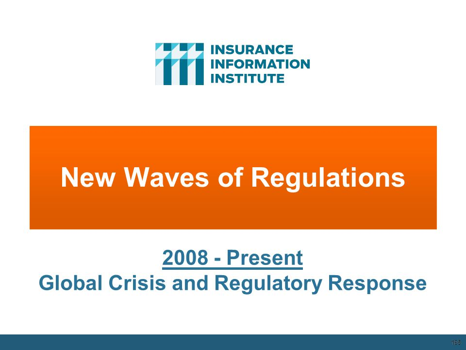 New Waves of Regulations 185 2008 - Present Global Crisis and Regulatory Response 12/01/09 - 9pm 185