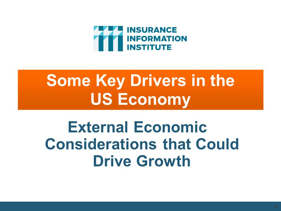 40 Some Key Drivers in the US Economy External Economic Considerations that Could Drive Growth 12/01/09 - 9pm 40
