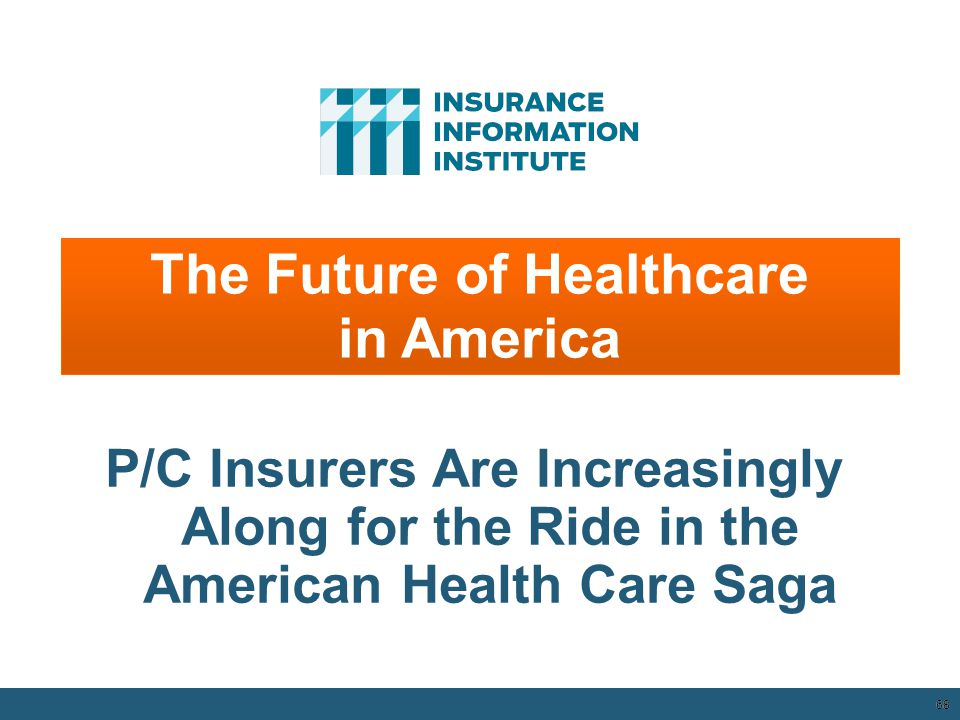 68 The Future of Healthcare in America P/C Insurers Are Increasingly Along for the Ride in the American Health Care Saga 12/01/09 - 9pm 68