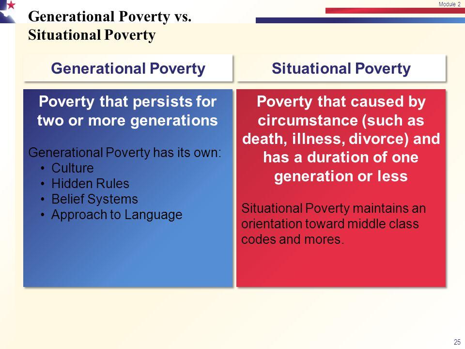 Generational Poverty vs.