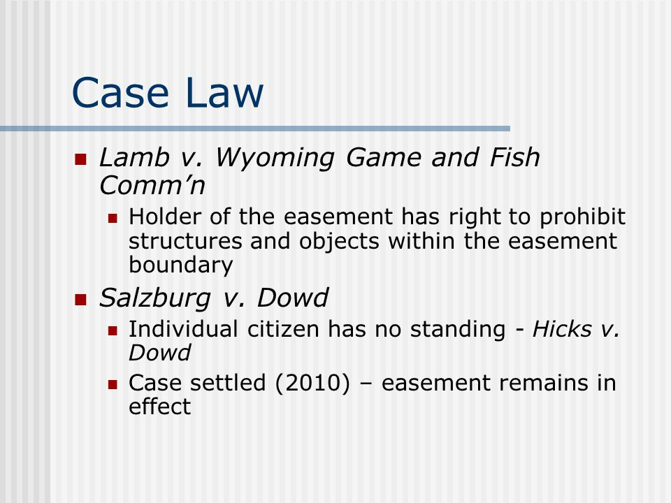 Case Law Lamb v.