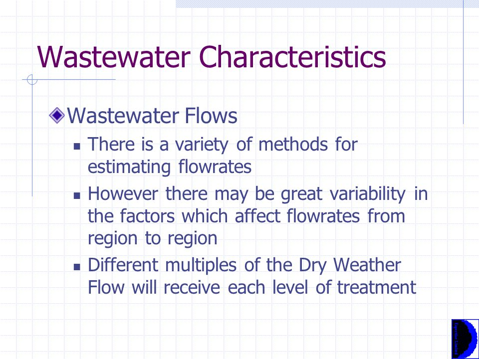 Overview: Wastewater Treatment Plant Design Selection of Design Mass Loadings Average mass loadings for BOD and Suspended Solids are commonly determined by Population Equivalent (PE) Design mass loadings are more complex and must take account of seasonal, diurnal and industrial load variations