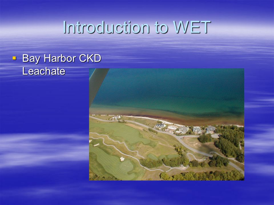 Introduction to WET  Bay Harbor CKD Leachate