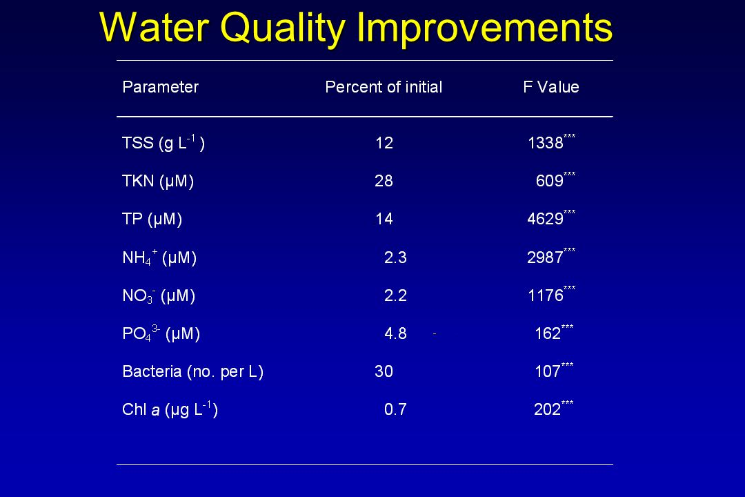 Water Quality Improvements