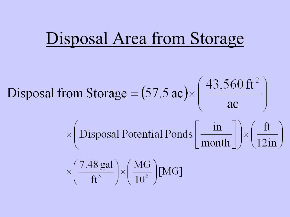 Disposal Area from Storage