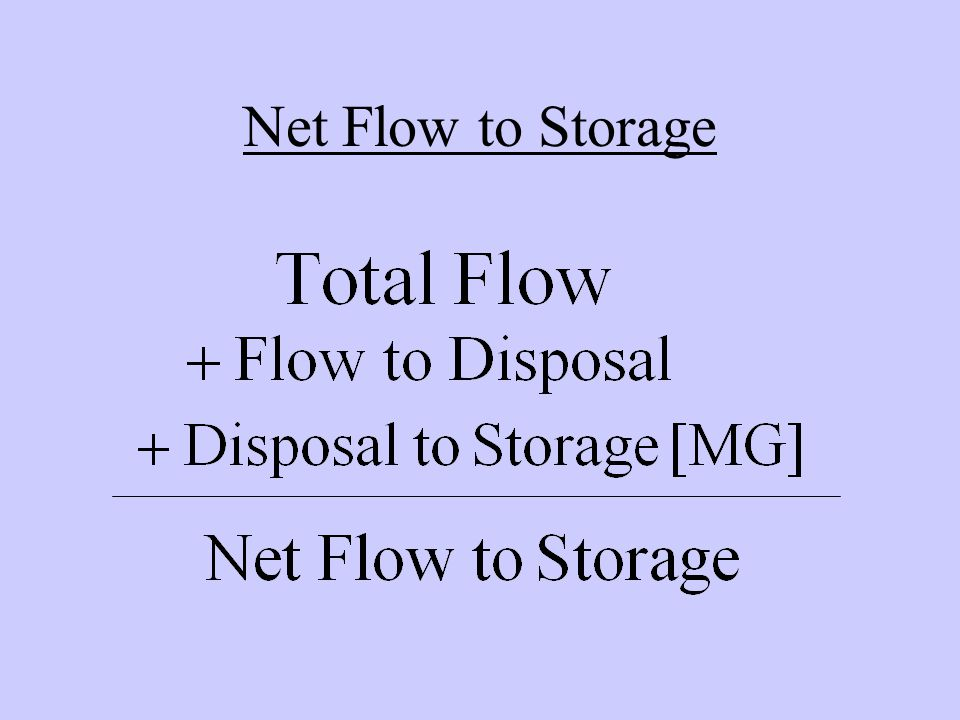 Net Flow to Storage