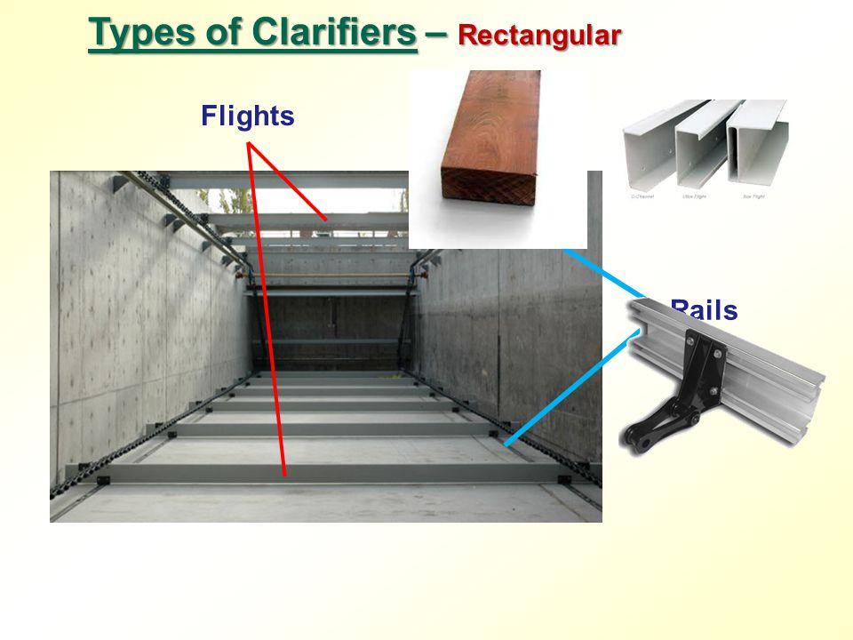 Rails Types of Clarifiers – Rectangular Flights