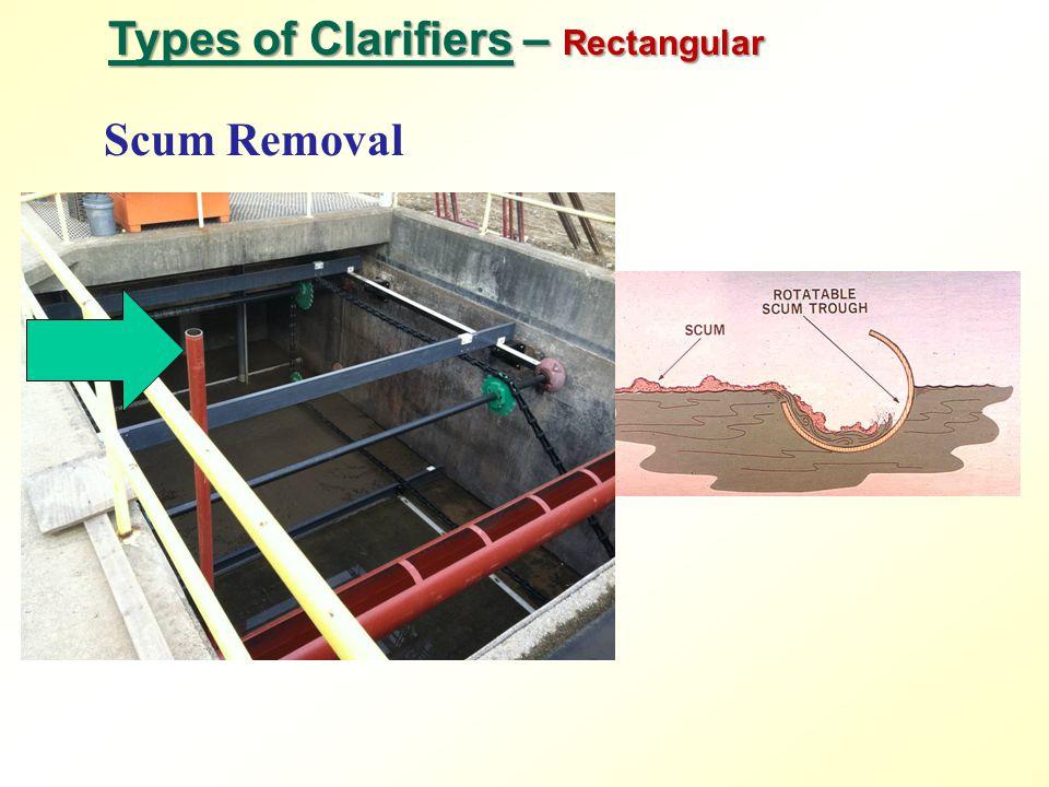 Types of Clarifiers – Rectangular Scum Removal