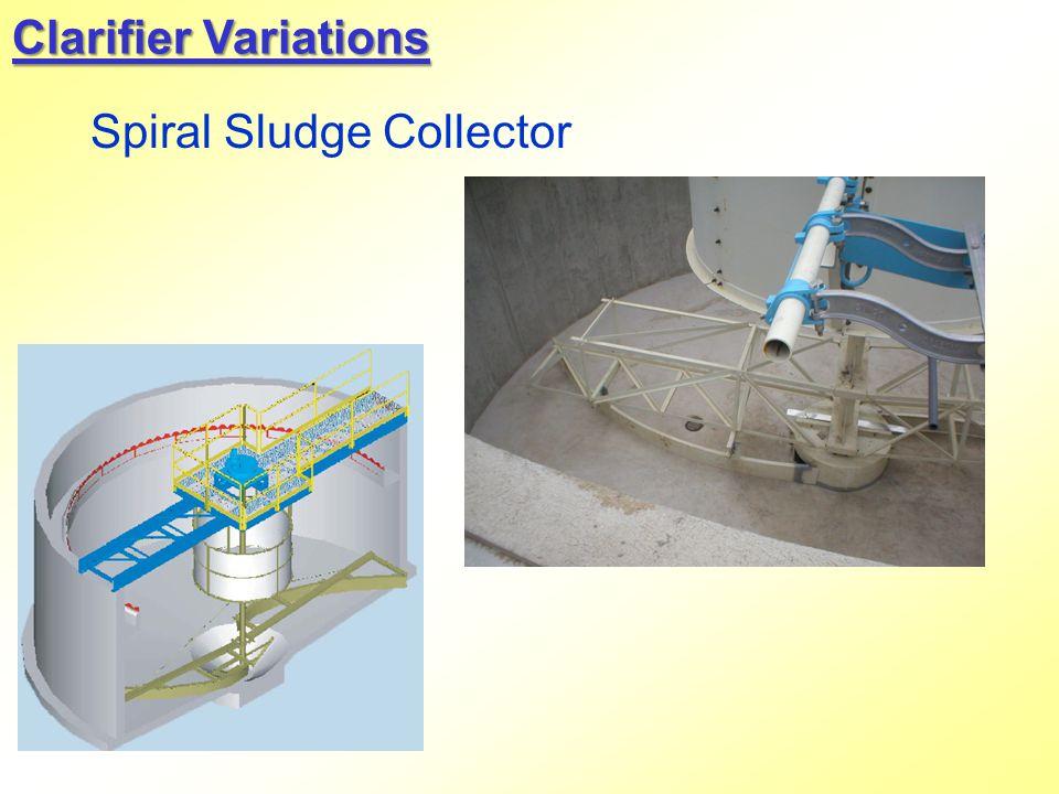 Spiral Sludge Collector Clarifier Variations