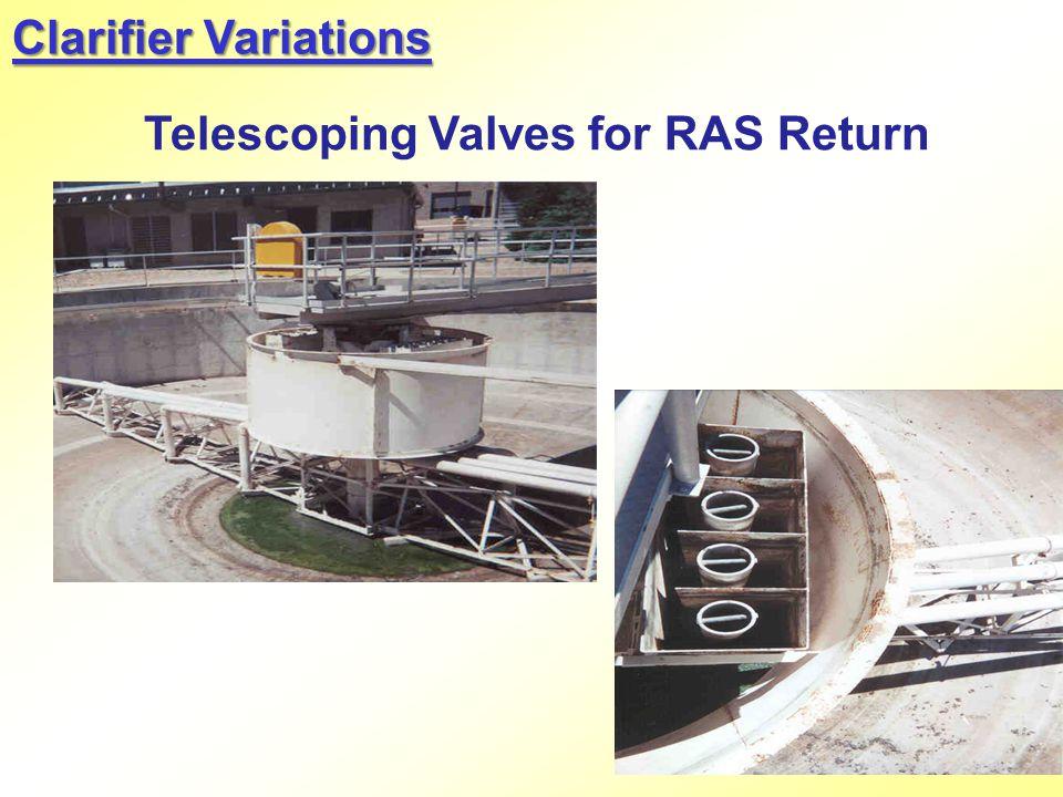 Telescoping Valves for RAS Return Clarifier Variations