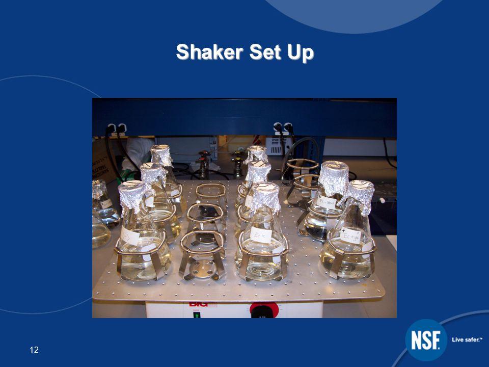 12 Shaker Set Up