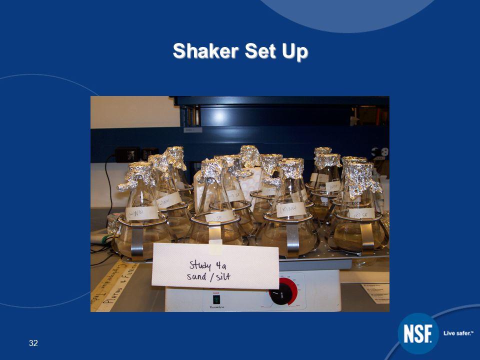 32 Shaker Set Up