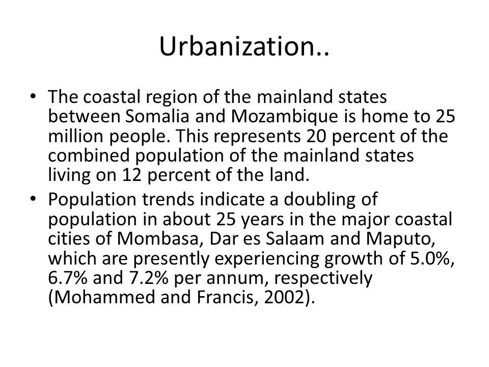 Urbanization..