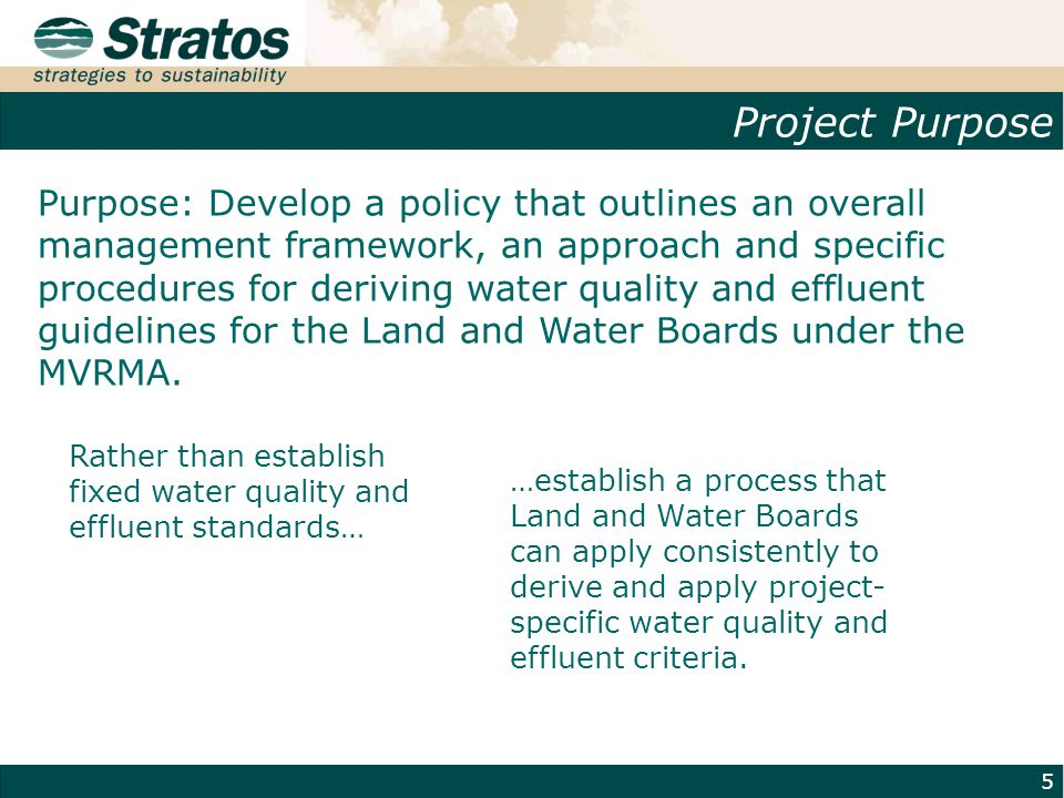 Water Management Context 6 Source: Pollution Probe.