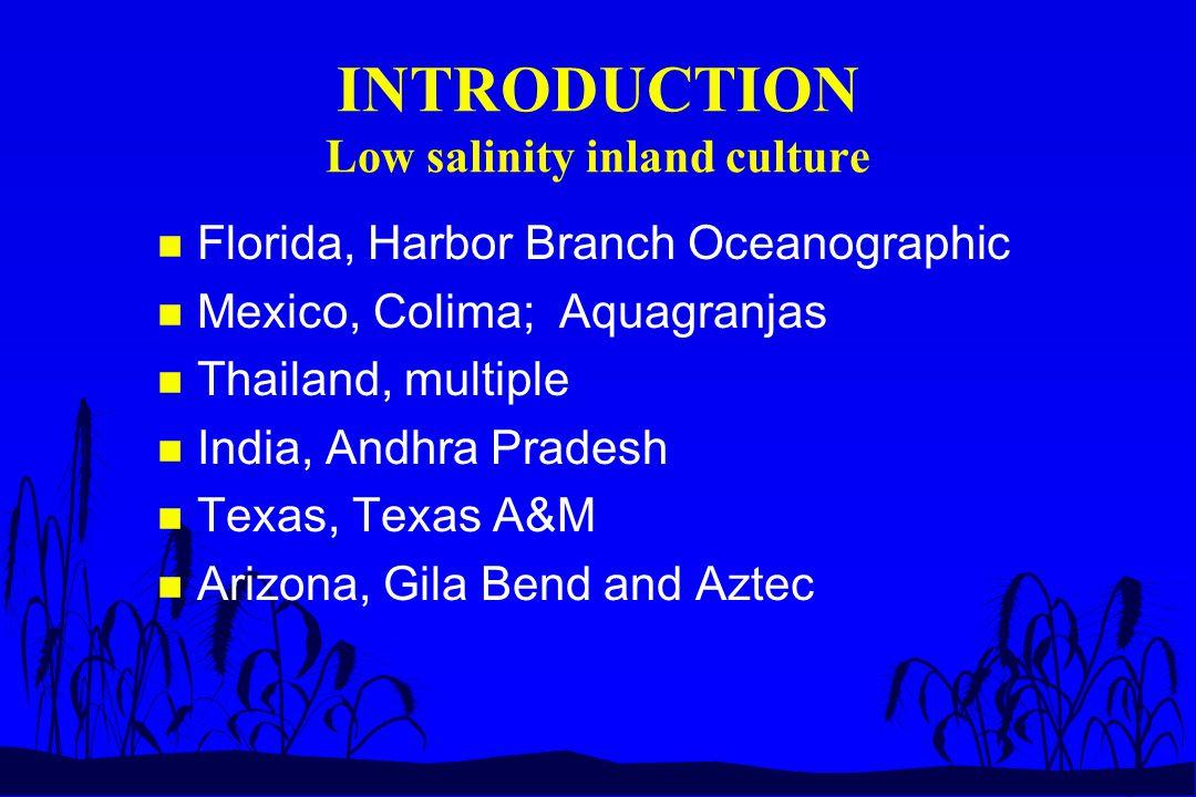 RESULTS Aztec, Medium salinity n Stocking L.vannamei, L..