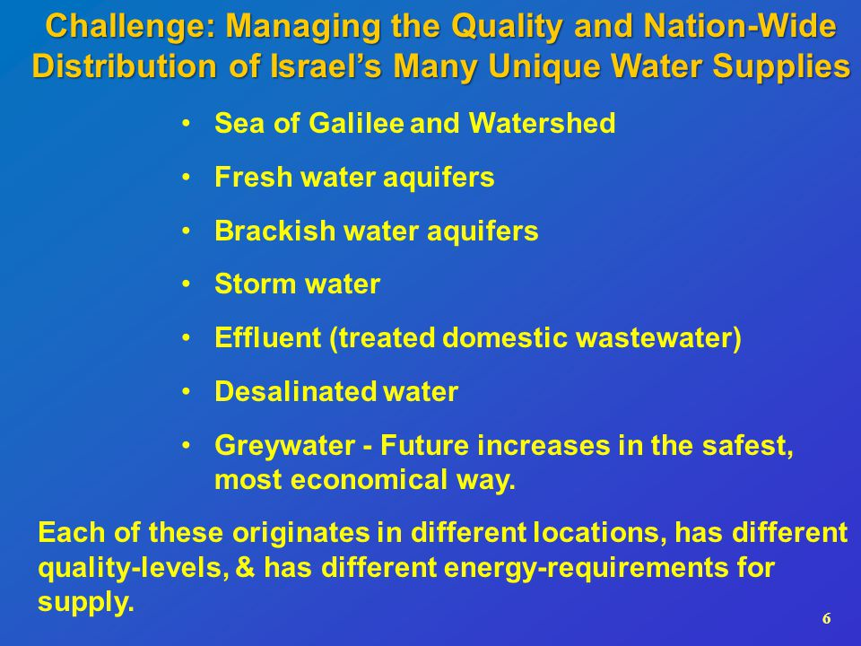 7Challenge: Water Shortages in Agriculture Irrigation with domestic effluent By 2016: Increase the proportion of tertiary or tertiary- plus level effluent to 90%, to enable its unlimited irrigation.
