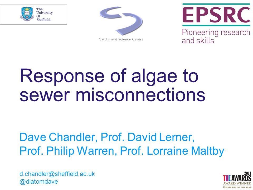 21/04/2015© The University of Sheffield 2 Why are algae important Primary producers Oxygen provision Carbon fixing Nutrient retention Metal retention