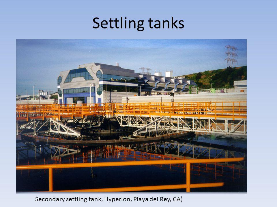Settling tanks Secondary settling tank, Hyperion, Playa del Rey, CA)