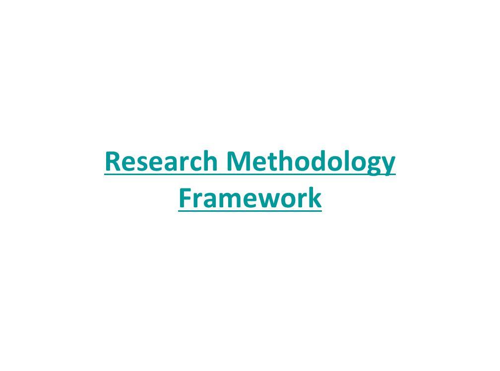 Research Methodology Framework