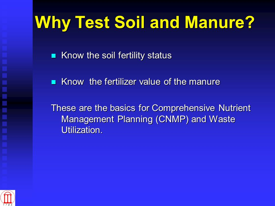 Manure Testing When.When.