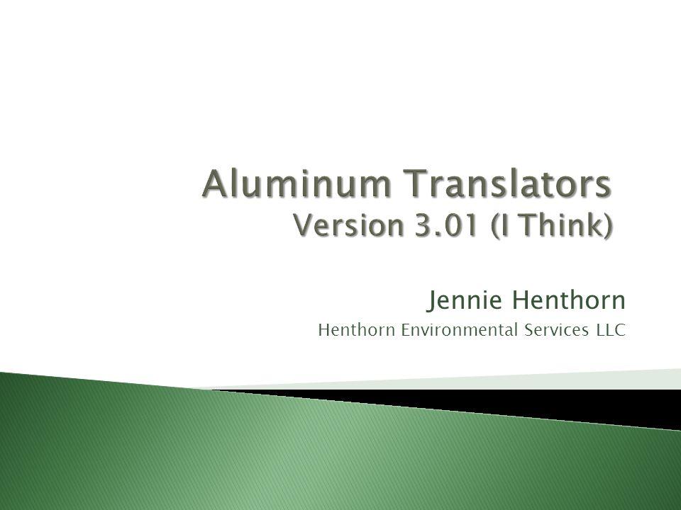Jennie Henthorn Henthorn Environmental Services LLC