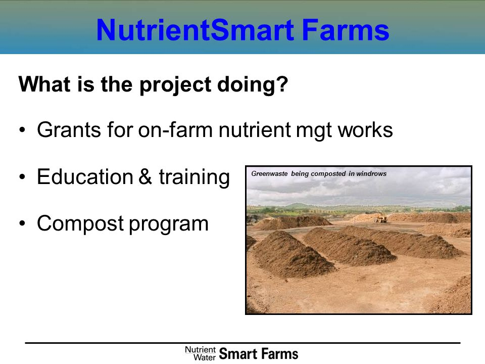 NutrientSmart Farms What is the project doing.