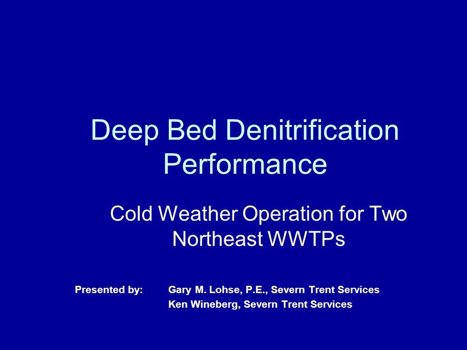 Severn Trent Services 12 Deep Bed Denitrification Operation- Filtration
