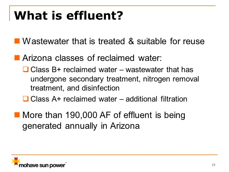 19 What is effluent.