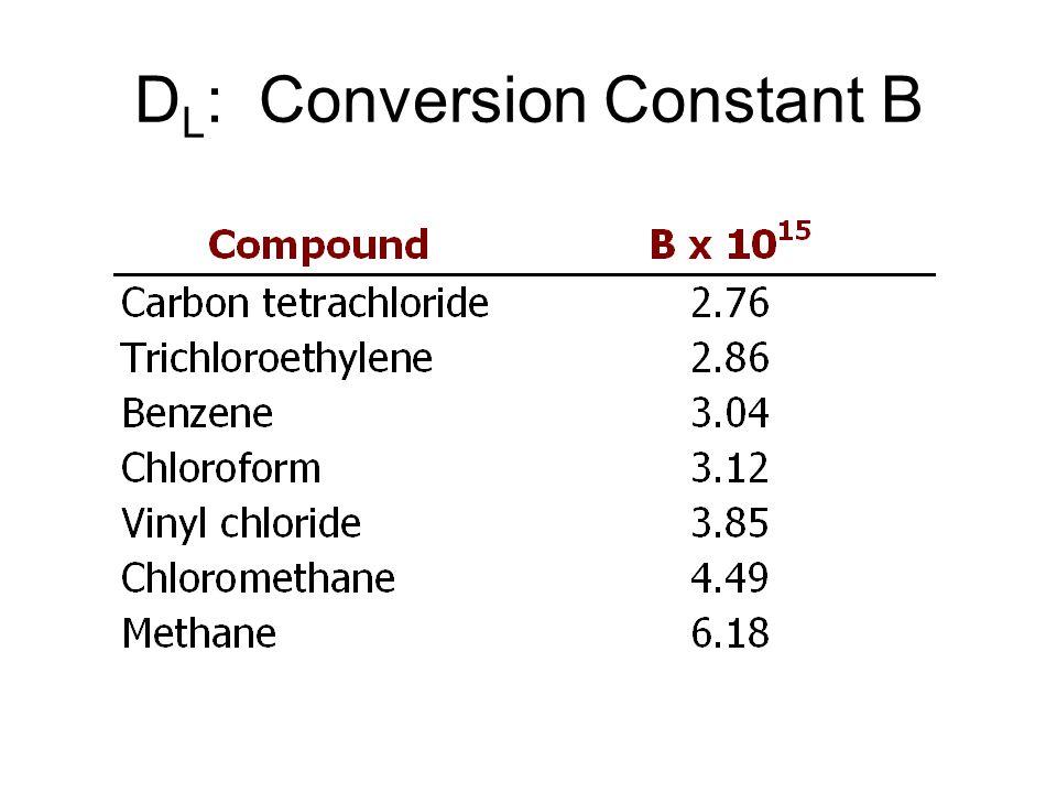 D L : Conversion Constant B
