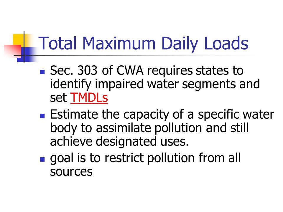 Total Maximum Daily Loads Sec.