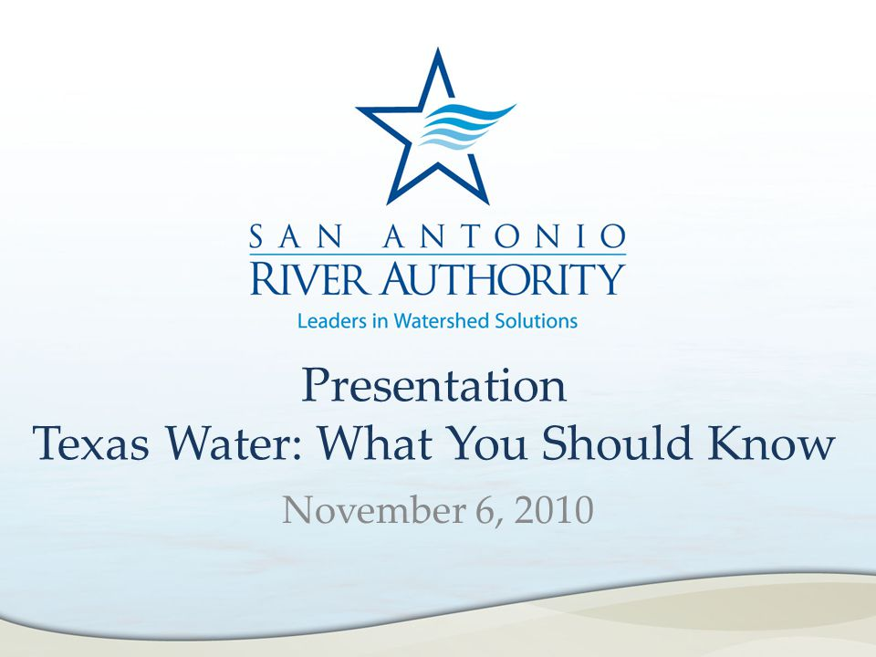 The San Antonio River Authority (SARA) was created by the State Legislature in 1937, then reorganized in 1961 to plan, manage and implement water-related programs and projects within the San Antonio River Basin.